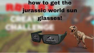 How to get the Jurassic world glasses in roblox! (promo code)