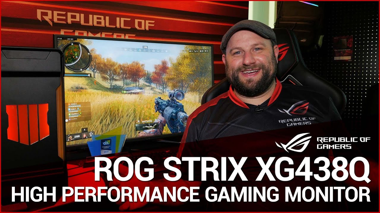 ASUS ROG Strix XG438Q 4K UHD FreeSync 2 HDR Gaming Monitor