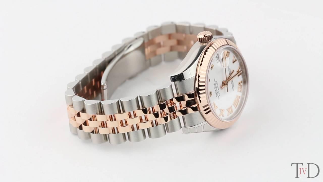 Rolex Datejust Lady 31mm Steel Rose Gold White Roman Jubilee 178271 T4d Watch Review