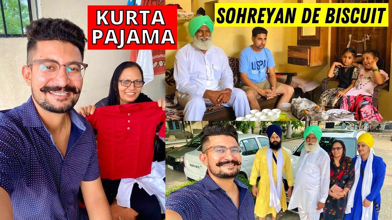 Roka Ceremony ❤️ ਦਾਦੀ ਨੇ ਪੋਤੇ ਲਈ ਖਰੀਦੇ ਕੁੜਤੇ ਪਜਾਮੇ | ਬਾਪੂ ਦੇ ਸੋਹਰਿਆਂ ਦੇ ਬਿਸਕੁਟ 🍪 Punjabi Vlogger