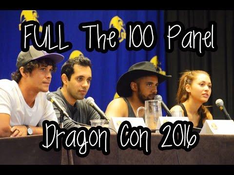 The 100 Cast Panel  Bob Morley, Lindsey Morgan, Sachin Sahel and Jarod Joseph  Dragon Con 2016