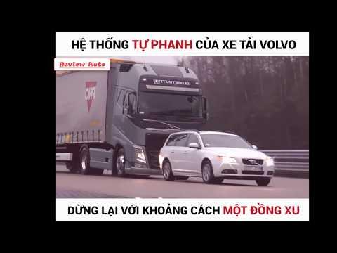 Nguy hiểm !!! Test thử hệ thống tự phanh của xe tải VOLVO