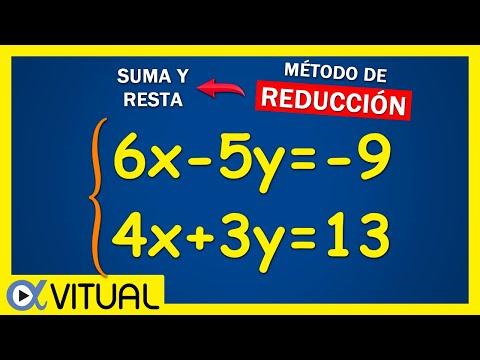 Sistema de ecuaciones de 2x2 método de suma y resta (reducción) ejemplo 2