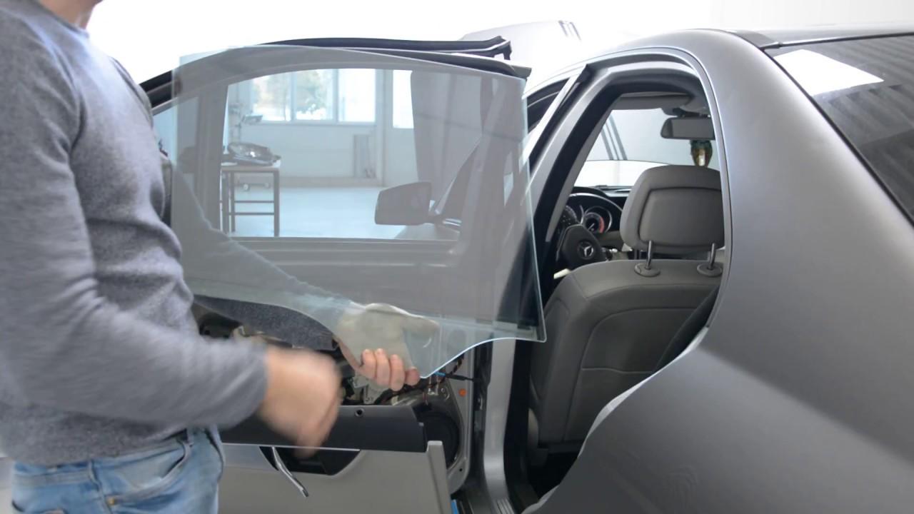 Mercedes W204 Removing Rear Door Window Glass Youtube