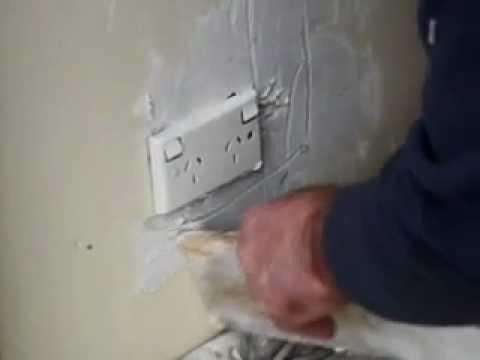 Plaster Repairs Around Power Point Turn All Power Off In