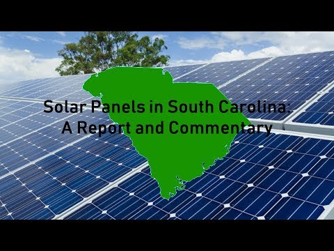 The Solar Industry in South Carolina: A Synopsis and Commentary