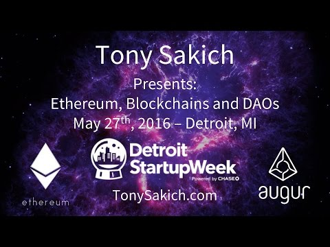 Augur's Tony Sakich on Ethereum, Blockchains & The DAO at Detroit Startup Week