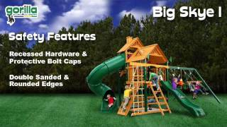 Kids Wood Playset - Big Skye I Swing Set - Gorilla Playsets