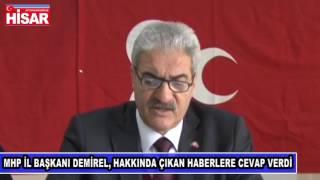 """MHP Afyonkarahisar İl Başkanı Raşit Demirel: """"Kesinlikle kabul edilemez"""""""