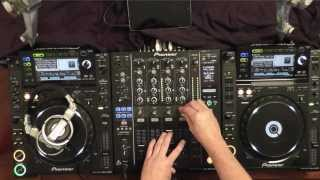 Example Tech-House DJ Set using Pioneer CDJ-2000's & DJM 900 Mixer - Audience Perspective