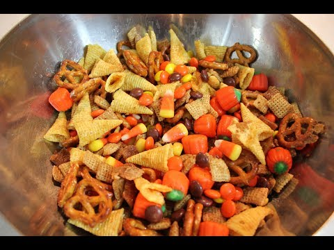 Chex Mix Recipe: Halloween Chex Mix (Fall Harvest Snack Mix)