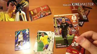 "Распаковка карт ЧМ 2018 Adrenalyn XL Panini { } Открытие 3-х пачек ""FIFA WORLD CUP RUSSIA 2018"""