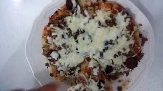 Evde Pizza yapımı(Döküm tavada pişirme tekniği)