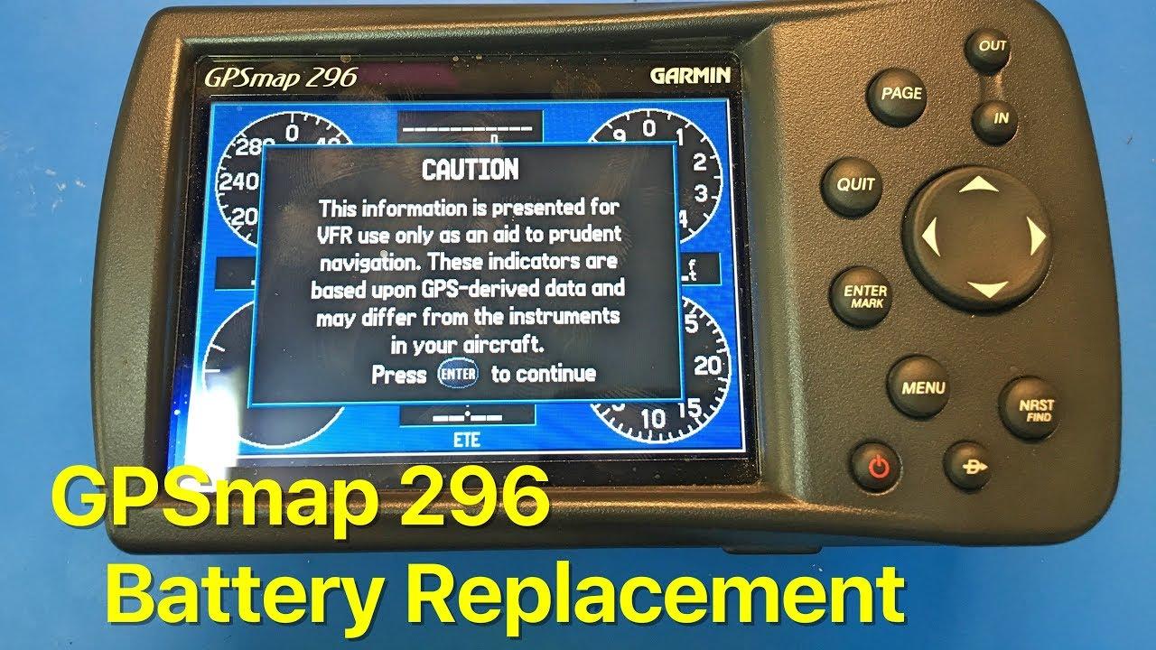 Garmin GPSmap 296 Internal Battery Replacement, Start to Finish on