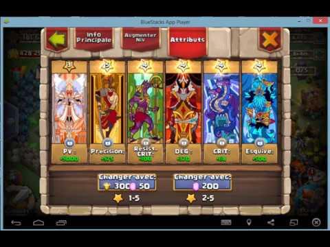 Castle Clash: équipement Talent