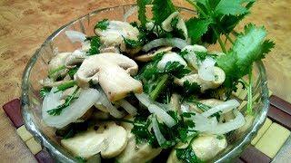 Малосольные грибы  рецепт приготовления   Самый простой рецепт