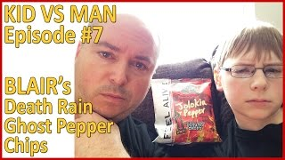 Kid vs Man ... Death Rain Ghost Pepper Chips Challenge : Episode 7, Crude Brothers