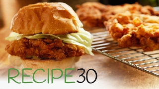 Simple Crispy Fried Chicken Burger - By RECIPE30.com