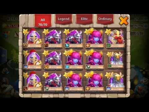 Rolling 24k For Heroes Skull Knight Dread Drake Castle Clash