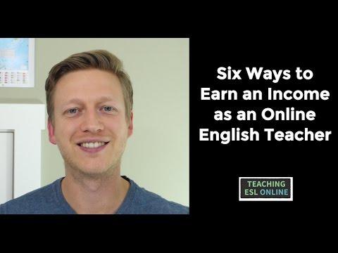 Six Ways to Earn an Income as an Online English Teacher