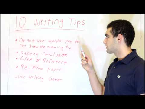 Big Help   10 Tips on Doing A Writing Assignment   Omar Ghannoum