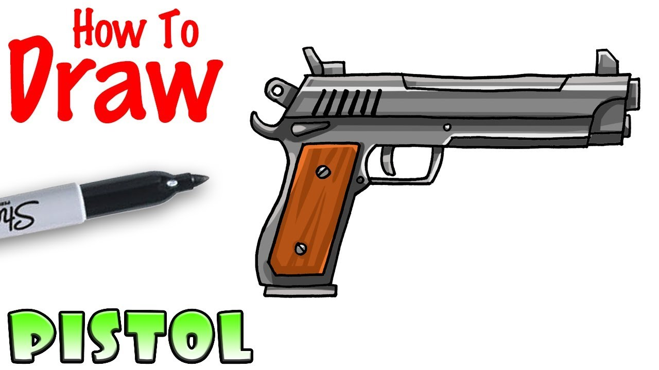 How To Draw The Pistol Fortnite Youtube