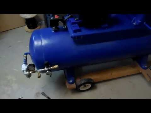Quincy 325 Air Comp with 5 HP 1740RPM Leeson Motor - YouTube