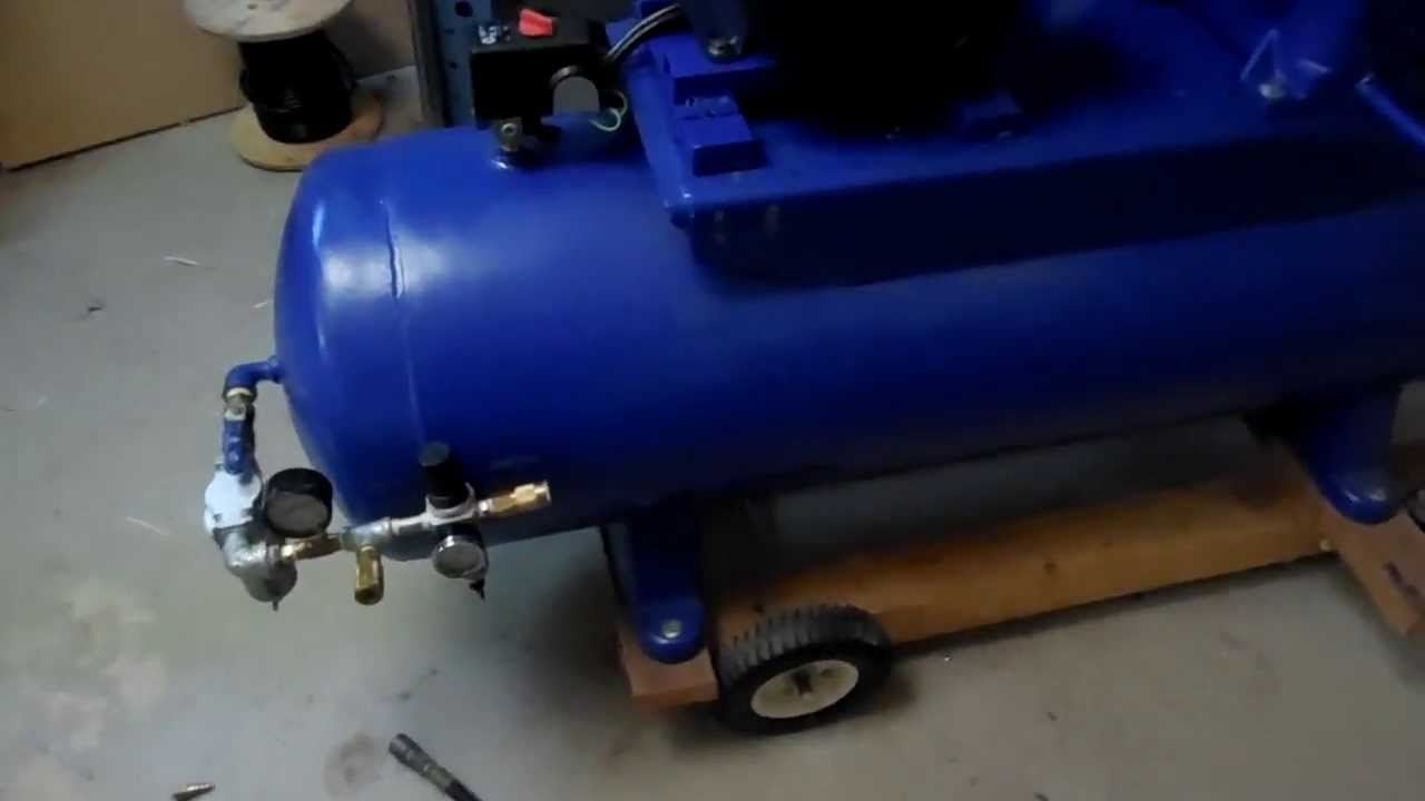 Quincy 325 Air Comp with 5 HP 1740RPM Leeson Motor YouTube