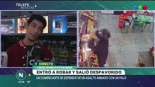 COMERCIANTE SACÓ A PALAZOS A UN LADRÓN ARMADO DE UN KIOSCO EN CERRO DE LAS ROSAS