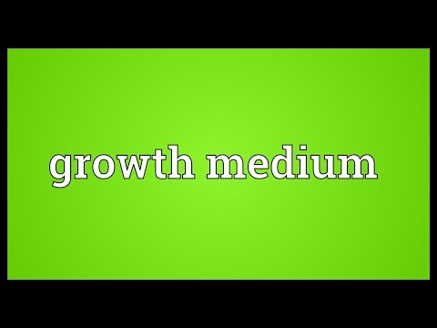 Growth medium Meaning