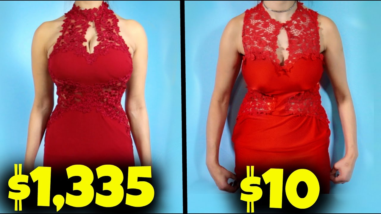 $10 Prom Dress Vs. $1000 Prom Dress! - YouTube