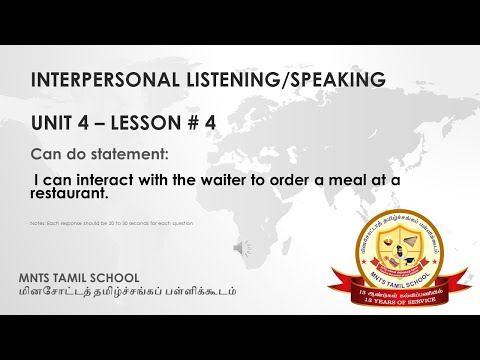 UNIT 4 Lesson 4 Interpersonal Listening-Speaking