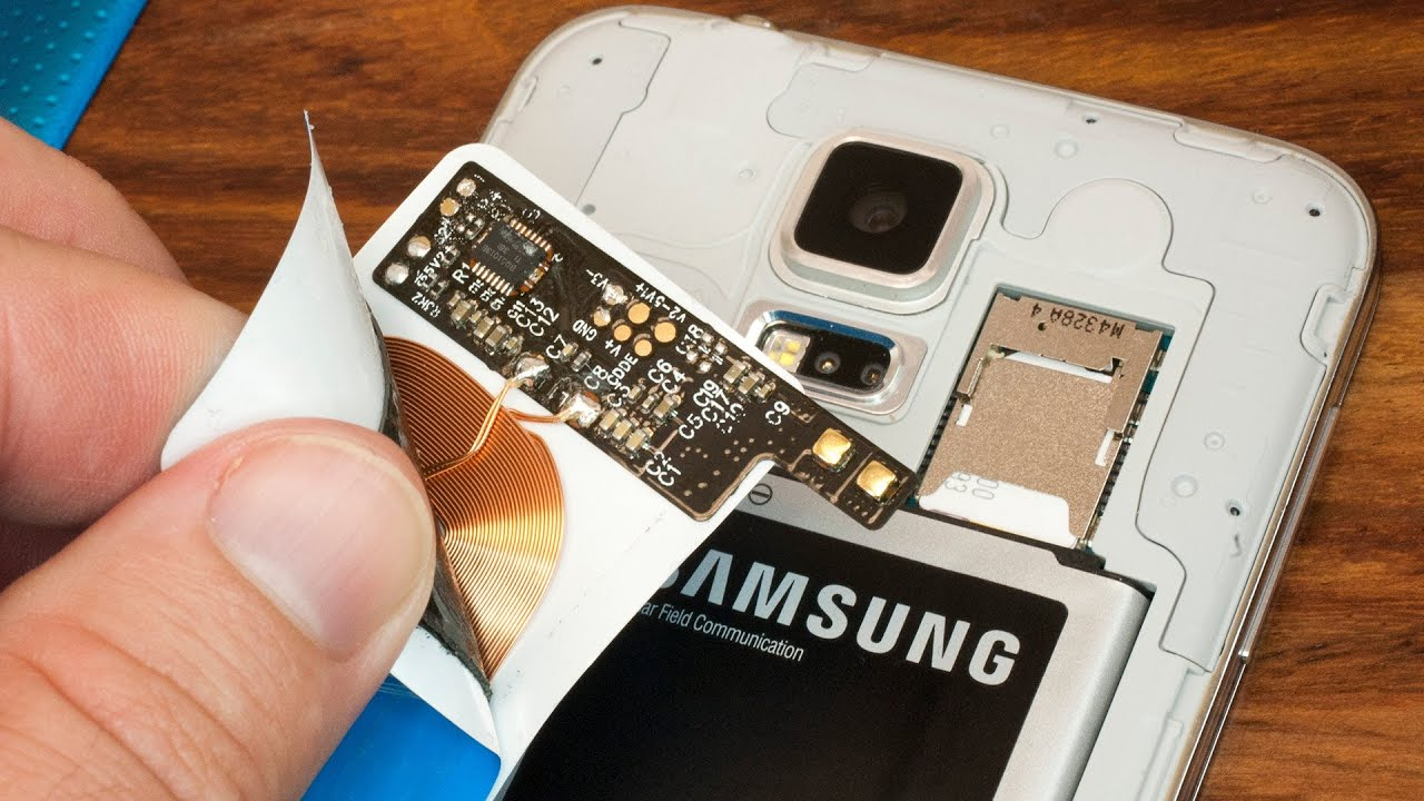 how to add wireless charging to a stock samsung galaxy s5 for just 10 [ 1280 x 720 Pixel ]