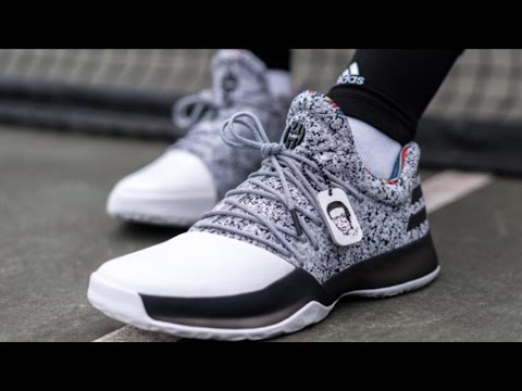 BHM James Harden Vol 1 Adidas Boost(Black History Month)Color  blk white