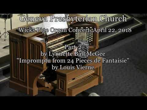 Geneva Organ Concert-Part 2, by Lynnette Ball McGee & Philip Riddick