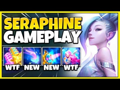 NEW CHAMPION SERAPHINE IS 100% BEYOND BROKEN! RIOT LITERALLY REWORKED SONA! - League of Legends