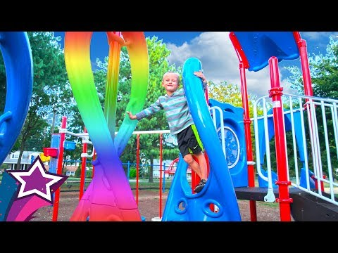 Super Fun Kids Playground Outdoor Play Area For Children Playing Nursery Rhymes Songs For Kids