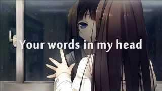 Repeat youtube video Nightcore - Human (Christina Perri) + Lyrics