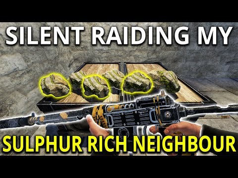 Silent Raiding My Sulfur Rich Neighbour - Rust Solo Survival Gameplay