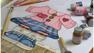 Efeito de sombra e luz na roupinha – Ursinha Fofa – Parte 3 Artes Mariana Santos