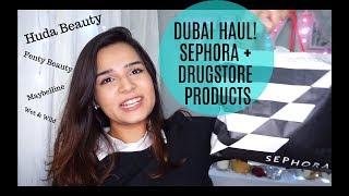 * HUGE * DUBAI MAKEUP HAUL ! Huda Beauty, Fenty Beauty, Kat Von D + Drugstore Products
