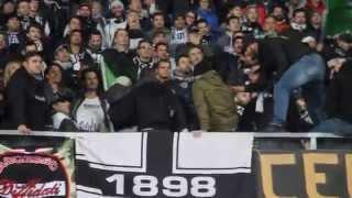 Pro Piacenza - Ascoli 2014 / 2015 - Coro di due piccoli Ultras