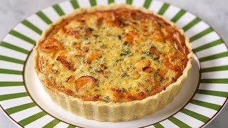 Tarta de Camarones, Queso y Cebolla  Receta Rápida