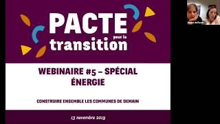 Webinaire#5 Du Pacte Pour La Transition - Spécial Energie !