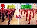 10.000 ZENGİN VS 10.000 FAKİR - Süper Kahramanlar (Zengin vs Fakir)