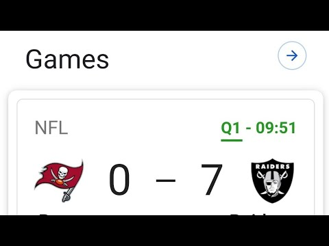 Las vegas Raiders Lead The Buccaneers 7 - 0 In The 1st Quarter By Joseph Armendariz