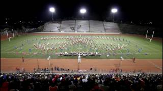 2016 Arcadia marching Apache band and color guard at the 6a Champio...