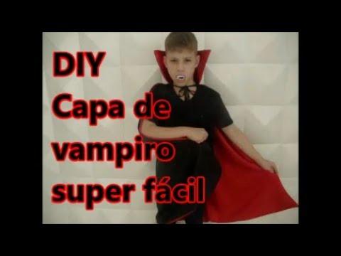 Como fazer capa de vampiro  DIY