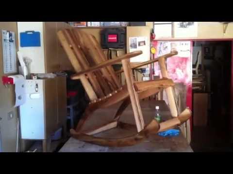 Come Costruire Una Sedia A Dondolo.Sedia Dondolo In Noce Youtube