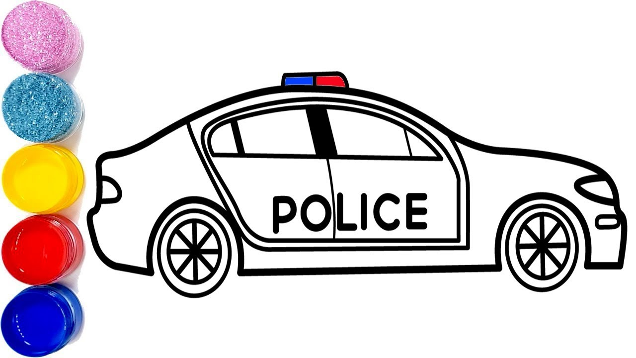 glitzer polizeiauto zeichnen und f rben f r kinder police car coloring pages youtube. Black Bedroom Furniture Sets. Home Design Ideas